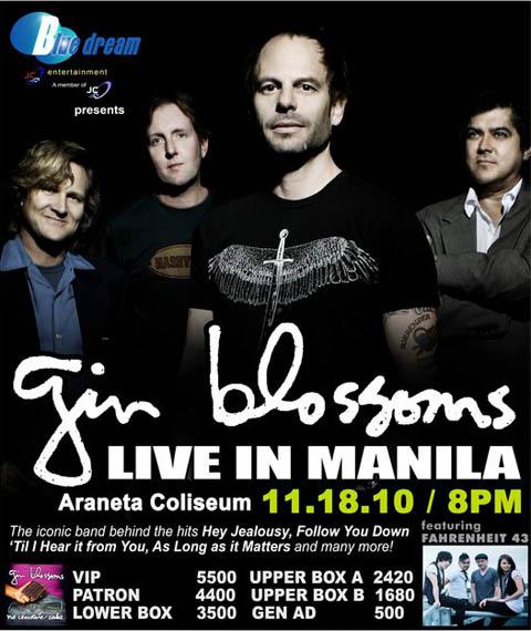 Gin Blossoms Live in Manila