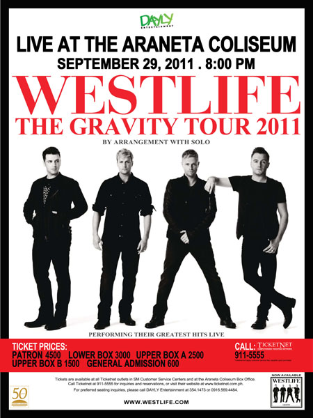 Westlife Live in Manila 2011: Gravity Tour
