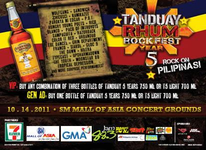 Tanduay Rhum Rock Fest 2011
