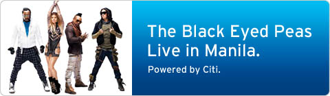 Citibank Black Eyes Peas Discounted Tickets