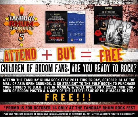 Children of Bodom-Tanduay Rhum Rockfest Promo