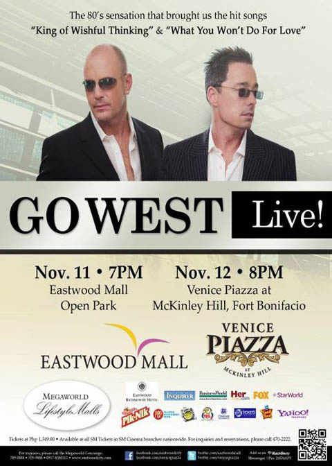 Go West Live in Eastwood and Venice Piazza