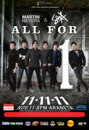 Martin Nievera and Side A Concert on 11.11.11