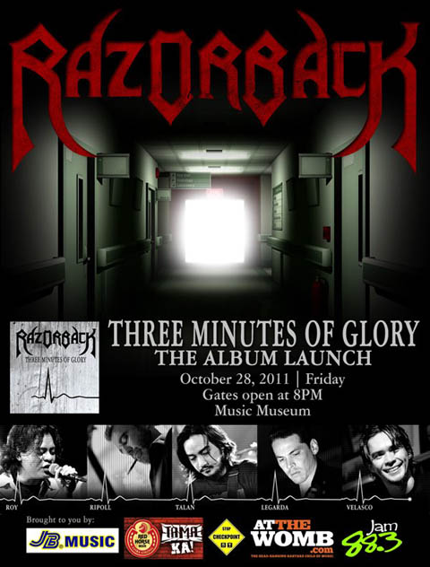 Razorback Three Minutes of Glory Album Launch