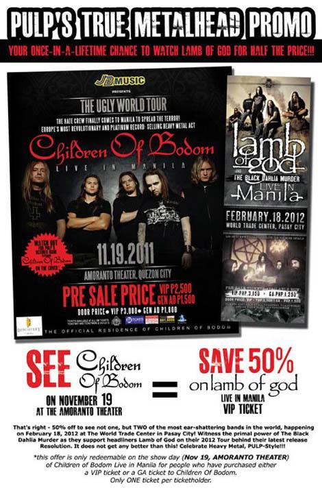 50% Discount Lamb of God VIP Tickets