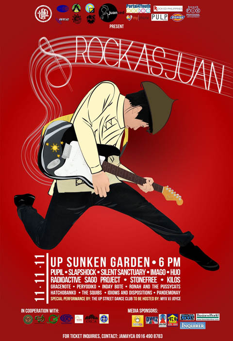 Rock as Juan Concert in UP Sunken Garden