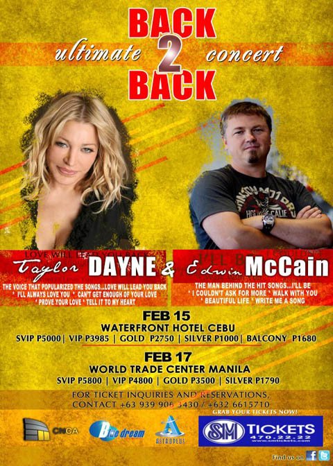 Taylor Dayne and Edwin McCain In Concert Manila and Cebu