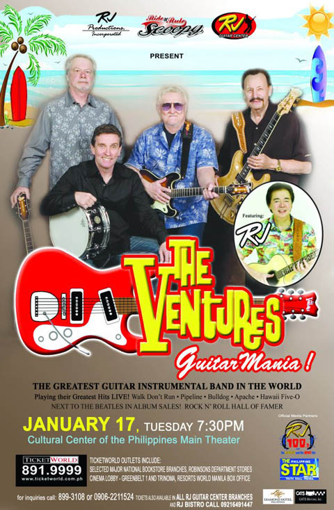 The Ventures Guitar Mania Live in Manila on January 17, 2012