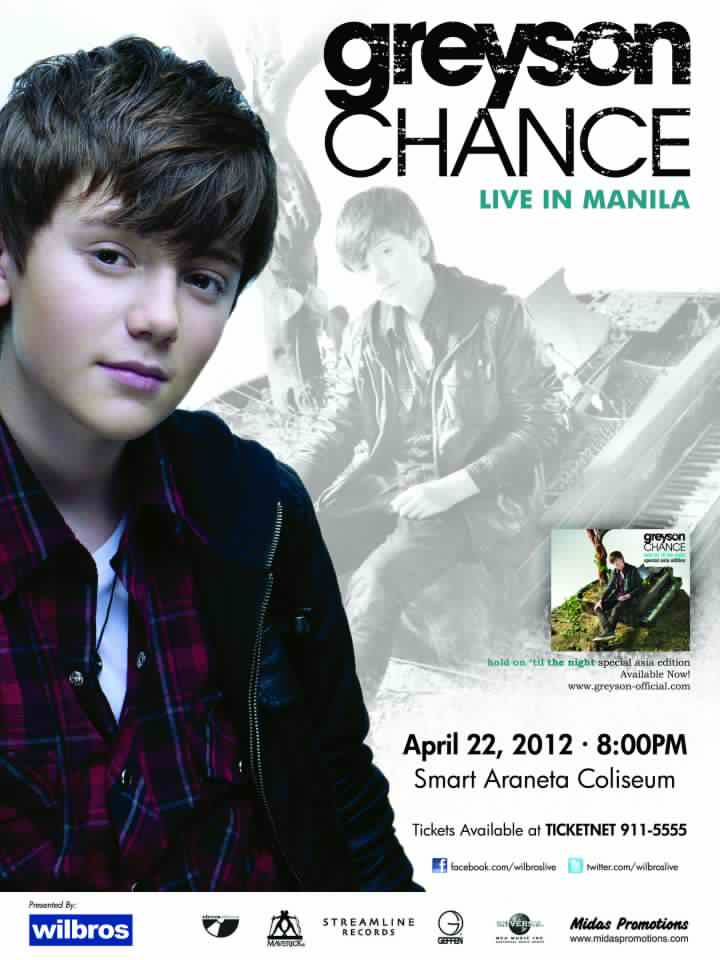Greyson Chance Live in Manile 2012