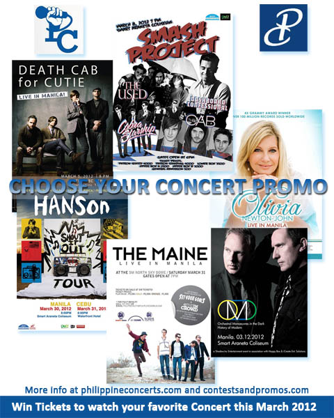 Choose your Concert Promo for March 2012