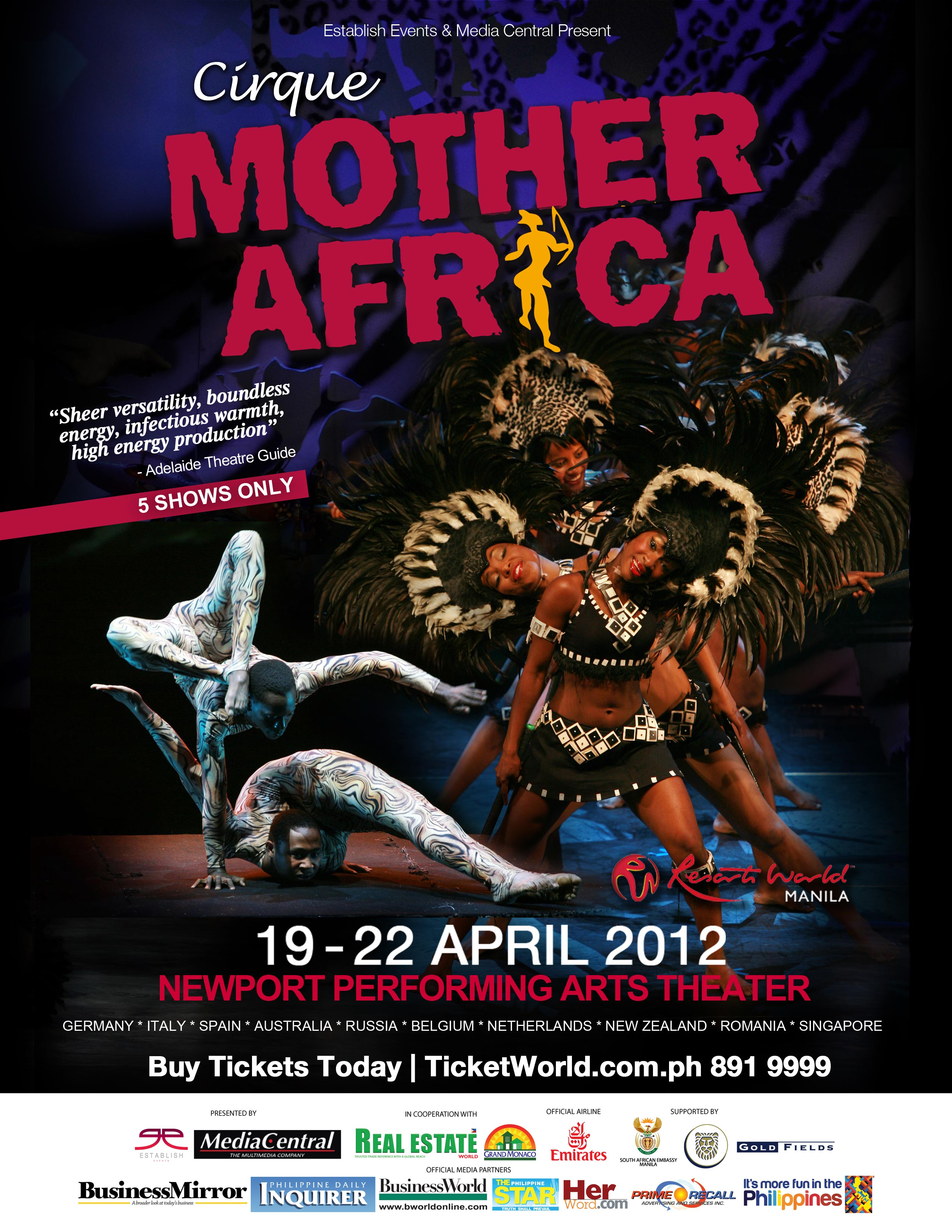 Cirque Mother Africa at Resorts World Manila