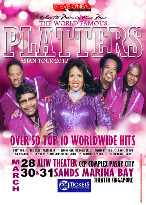 The World Famous PLATTERS Asian Tour 2012