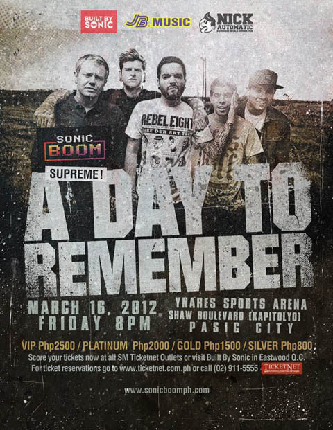 A Day to Remember Live in Manila 2012