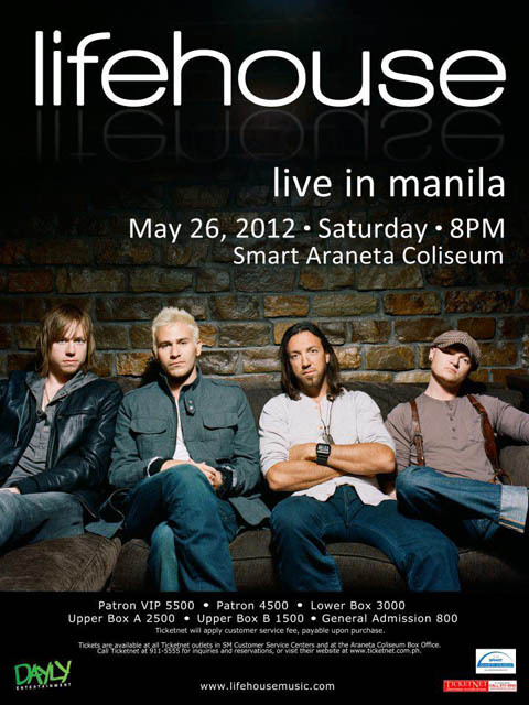 Lifehouse Live in Manila 2012