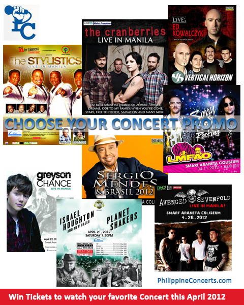 Choose your Concert Promo for April 2012
