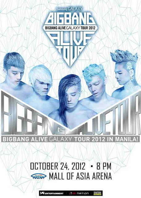 Big Bang Alive Galazy Tour 2012 poster