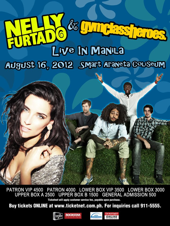 GYM CLASS HEROES and Nelly Furtado live in Manila