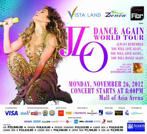 Jennifer Lopez live in Manila
