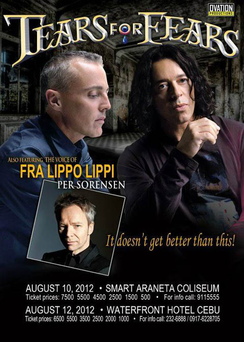 Tears For Fears live in Manila and Cebu 2012