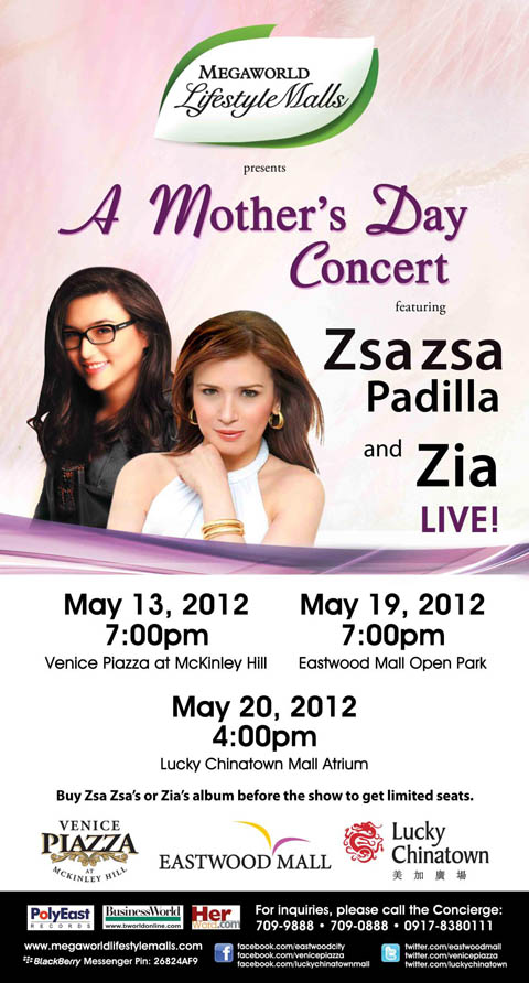 Zsa Zsa Padilla and Zia Quizon Mother's Day Concert