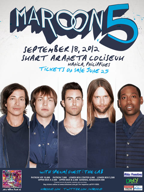 Maroon 5 Live in Manila 2012 with The Cab