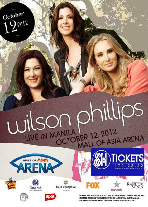 Wilson Phillips live in Manila