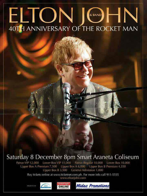 Elton John Live in Manila 2012