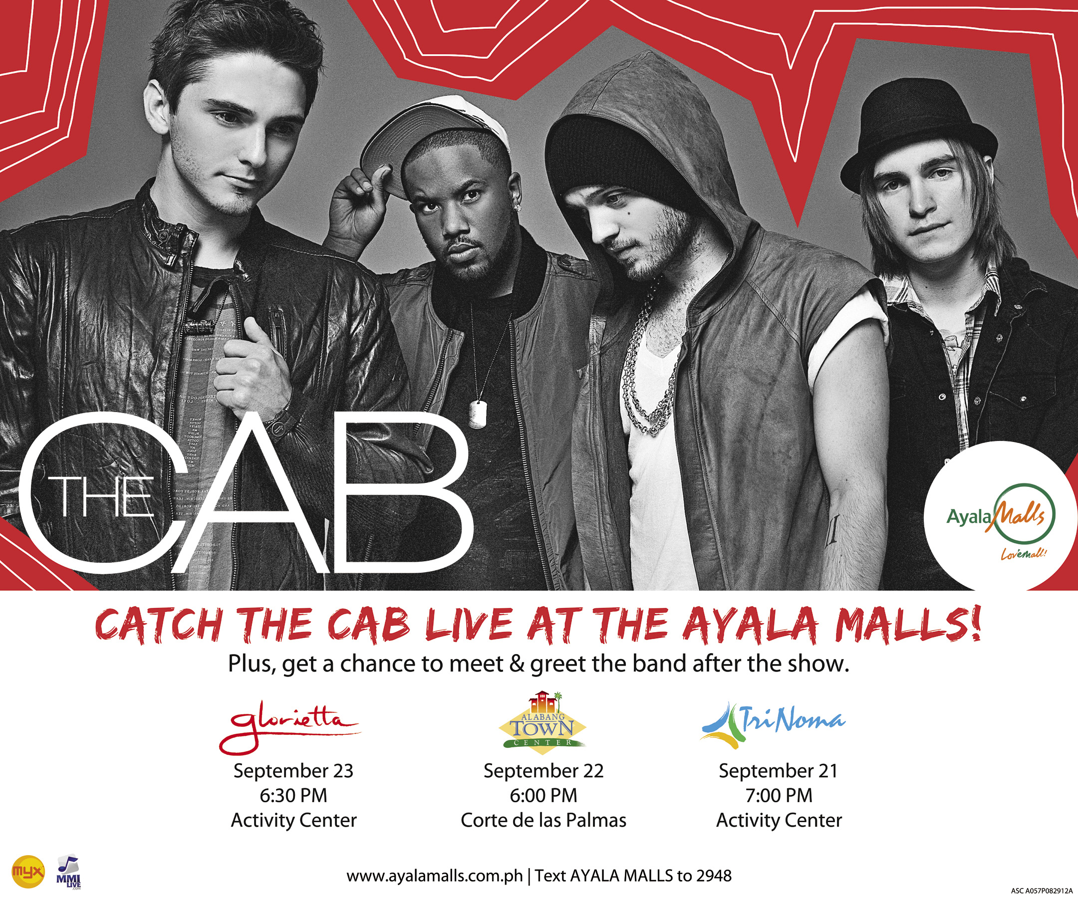 The Cab live at the Ayala Malls!