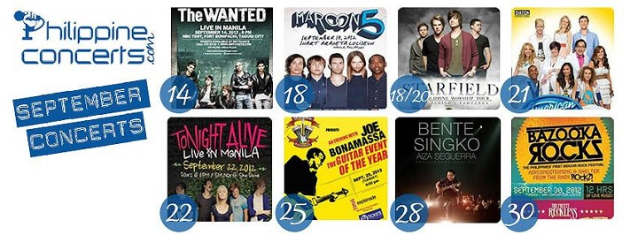September 2012 Concerts