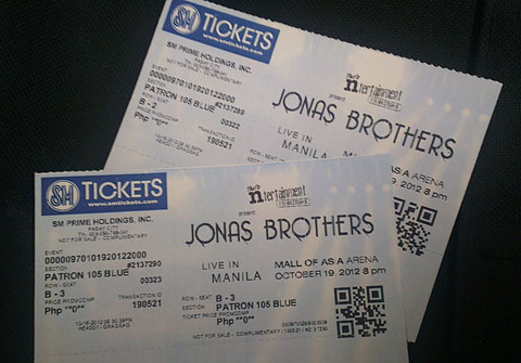 Win Patron Tickets to watch Jonas Brothers Live at MOA Arena