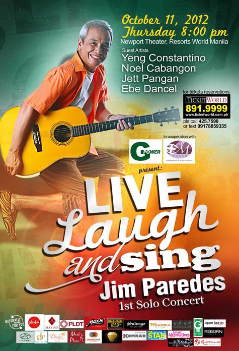 Jim Paredes 1st Solo Concert