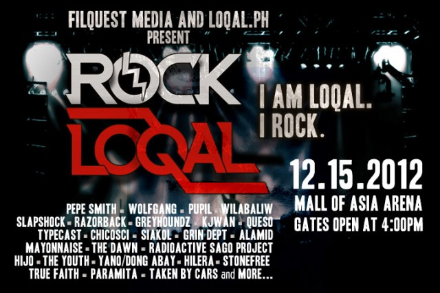 Rock Loqal 2012 at Mall of Asia Arena