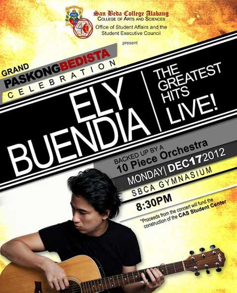 Ely Buendia Live at San Beda Alabang