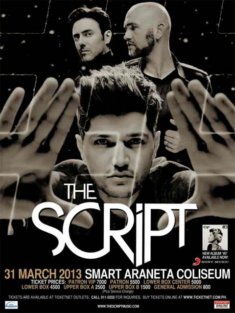 The Script Live in Manila, The Script Concert 2013