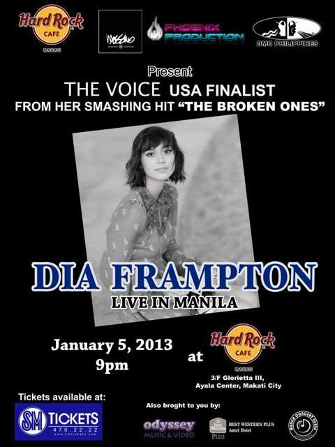 Dia Frampton Live in Manila