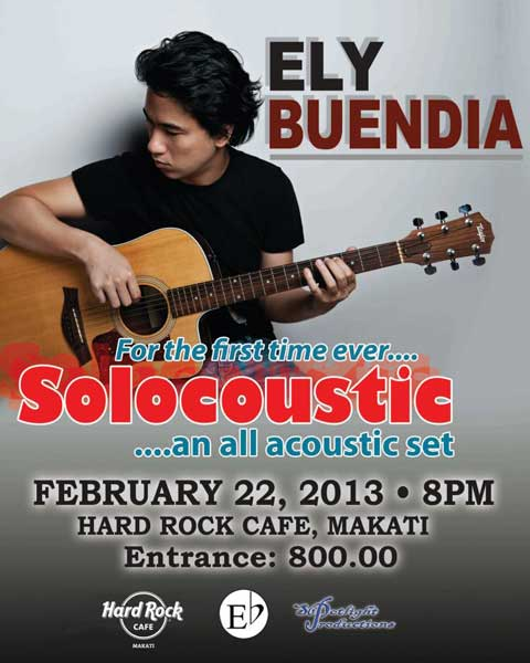 Solocoustic featuring Ely Buendia at Hard Rock Cafe