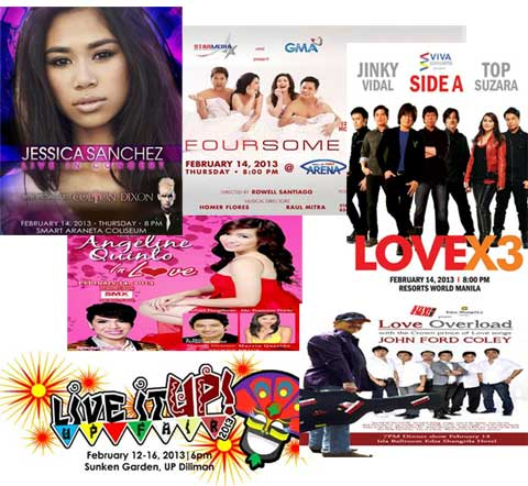 Which concert are you going to watch this Valentine's Day 2013?