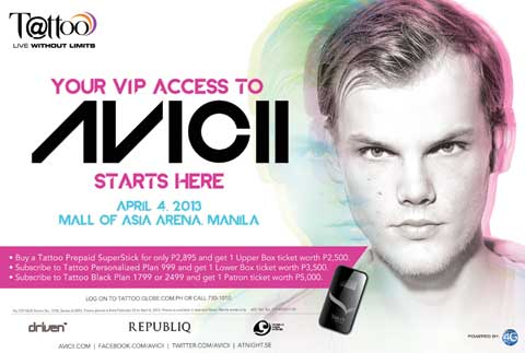 Free Tickets to watch Avicii Live in Manila