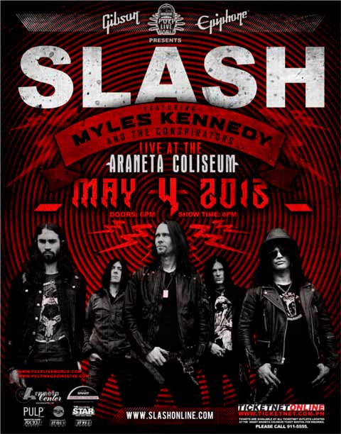 in Manila featuring Myles Kennedy and The Conspirators on May 4, 2013 ...