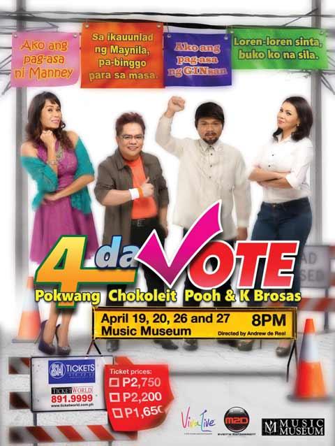 4 Da Vote – Pokwang, Chocoleit, Pooh & K-Brosas