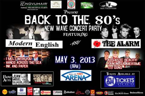 Back To The 80s – Modern English and The Alarm Live in Manila