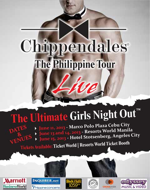 Chippendales Live at Resorts World also in Cebu and Pampanga