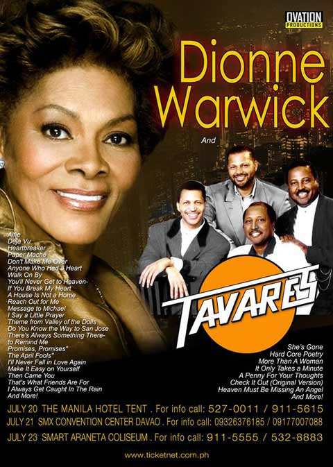 Dionne Warwick and Tavares Live in Manila