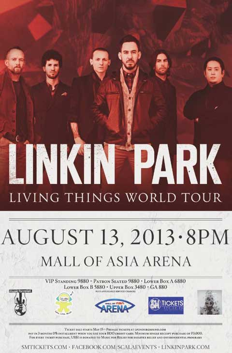 Linkin Park – Transformers, Music for Relief and Live in Manila Promos