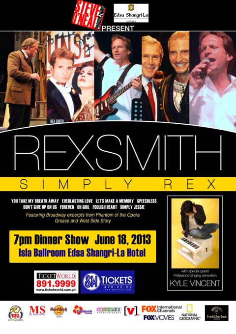 Rex Smith Live at EDSA Shangri-La and Widus Resort and Casino