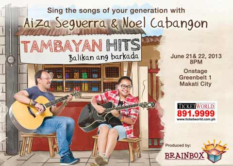 Tambayan Hits featuring Aiza Seguerra and Noel Cabangon