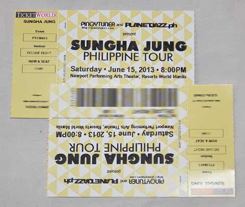 Sungha Jung Ticket Promo Winner