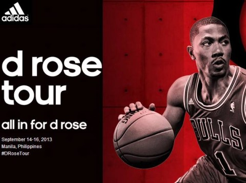 Derrick Rose Tour in Manila