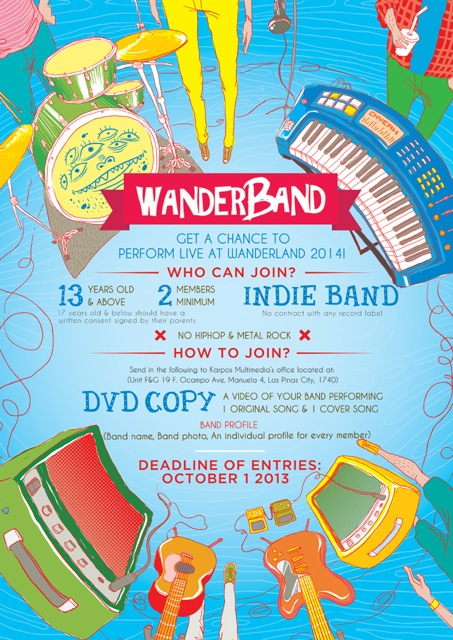 Wanderband: Perform live at Wanderland 2014!