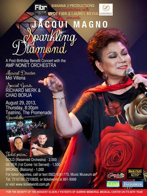 """Jacqui Magno """"SPARKLING DIAMOND"""" a Benefit Concert"""